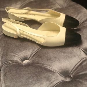 Chanel Slingback Two Tone Sz 38